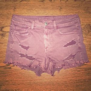 High Waisted Mulberry American Eagle Shorts